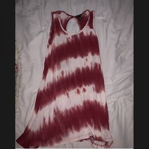 Tie-Dye Red Dress